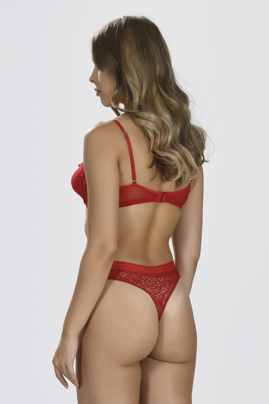 Kırmızı Olexa Dantel Sütyen - Thumbnail