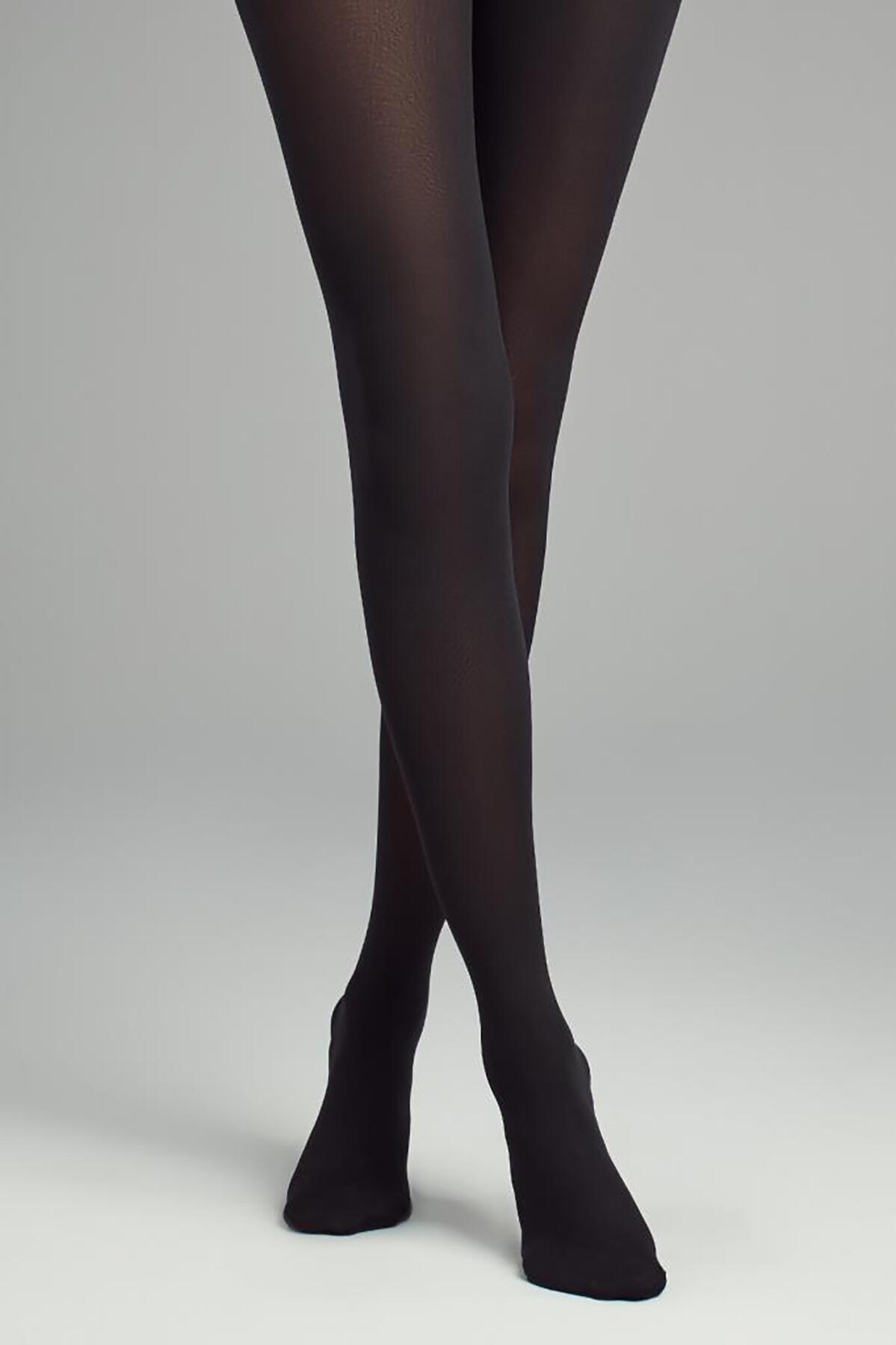 Siyah Desensiz Külotlu Çorap